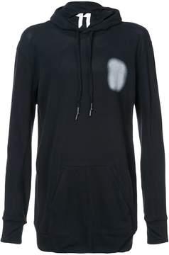 11 By Boris Bidjan Saberi drawstring logoed hoodie