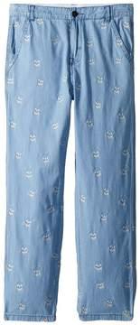 Stella McCartney Leonard Chambray Pants w/ Skulls Boy's Clothing