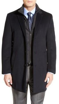 Hart Schaffner Marx Men's Kingman Modern Fit Wool Blend Coat With Removable Zipper Bib