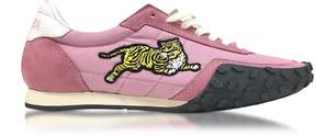 Kenzo Flamingo Pink Nylon and Suede Move Women's Sneakers