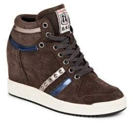Ash Prince Leather High-Top Sneakers