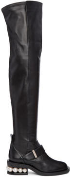 Nicholas Kirkwood Black Casati Pearl Over-the-Knee Boots
