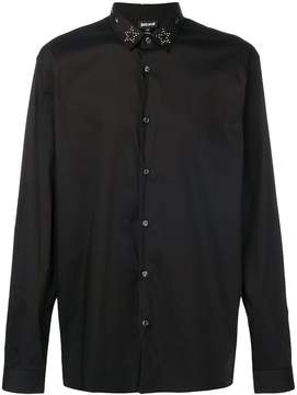 Just Cavalli star studded collar shirt