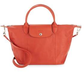 Longchamp Le Pliage Cuir Medium Tote - MEDIUM RED - STYLE