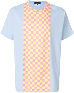 Comme des Garcons checkered panel T-shirt