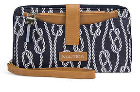 Nautica Wristlet With Removable Pouch - Rope Print