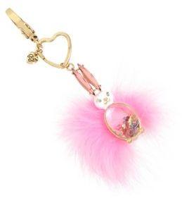Betsey Johnson Feathery Tail Bunny Key Fob
