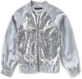 Xtraordinary Big Girls 7-16 Sequin Bomber Jacket