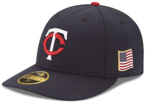 New Era Minnesota Twins Authentic Collection Low Profile 9-11 Patch 59FIFTY Fitted Cap