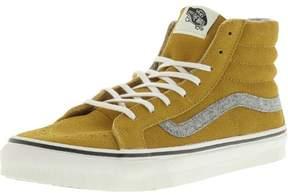 Vans Sk8-Hi Slim Vintage Suede Amber Gold High-Top Skateboarding Shoe - 10M / 8.5M