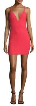 Cinq à Sept Ara Deep V-Neck Mini Dress