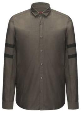 HUGO Boss Cotton Sport Shirt, Straight Fit Barnei R M Dark Green
