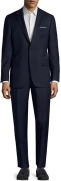 Hickey Freeman Men's Wool Micro Check Notch Lapel Suit