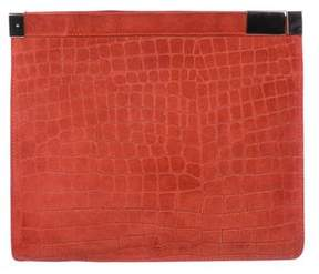 Maison Margiela Suede Embossed Clutch