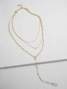 BaubleBar Linza Layered Y-Chain Necklace