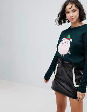 Brave Soul Piggie Holidays Sweater