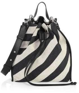 J.W.Anderson Striped Suede Drawstring Bag
