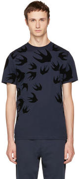 McQ Navy Swallows T-Shirt