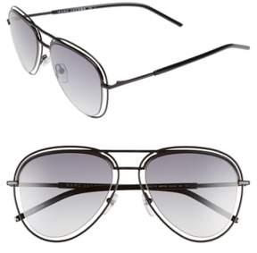 Marc Jacobs Women's 54Mm Aviator Sunglasses - Shiny Black