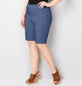 Avenue Lace-Up Pull-On Bermuda Short