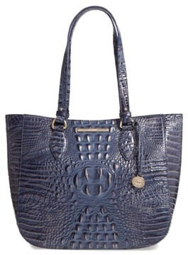 Brahmin Melbourne - Medium Lena Leather Tote - Blue
