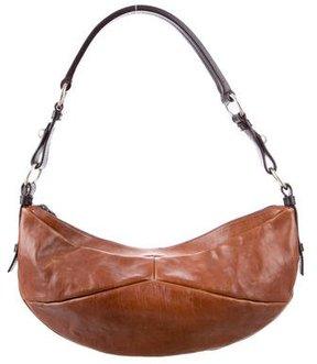 Saint Laurent Bicolor Leather Hobo - BROWN - STYLE