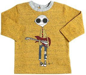 Little Marc Jacobs Musician Print Cotton Jersey T-Shirt
