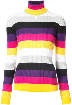 Courreges striped knit jumper