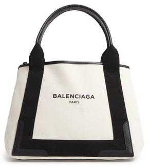 Balenciaga Small Cabas Canvas Tote - Beige