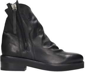 Cinzia Araia Black Leather Ankle Boots