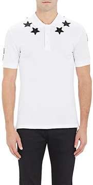 Givenchy Men's Star-Appliquéd Polo Shirt