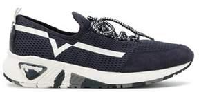 Diesel Men's Blue Polyester Sneakers.