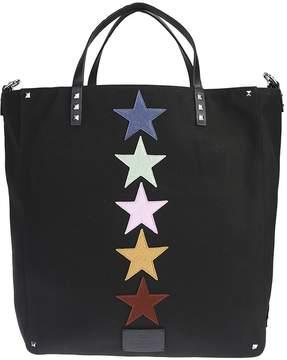 Valentino Jamie Raid Nylon Canvas Bag