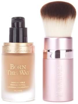 Too Faced Born This Way Foundation & Kabuki Brush - Honey
