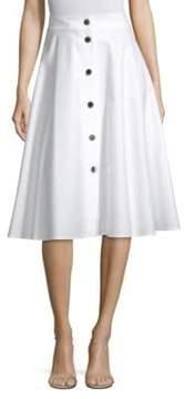 Escada Requita Pique Button-Front Skirt