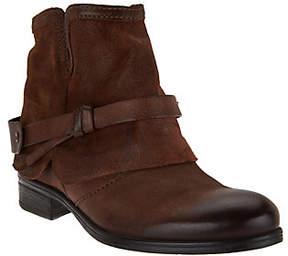 Miz Mooz Leather Ankle Boots w/ Strap Detail - Seymour