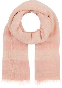 Barneys New York WOMEN'S STRIPED-END GAUZE SCARF