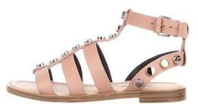 Balenciaga Leather Studded Sandals