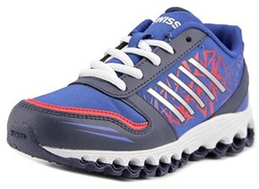 K-Swiss X-160 Youth Round Toe Synthetic Blue Tennis Shoe.