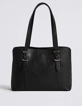 Faux Leather Soft Stud Tote Bag