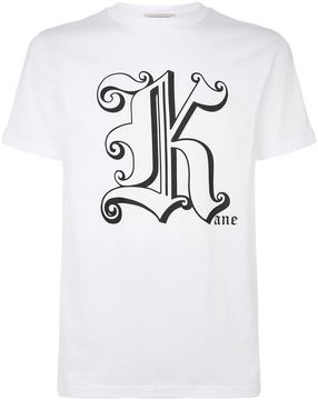 Christopher Kane Initial Logo Motif Cotton T-Shirt