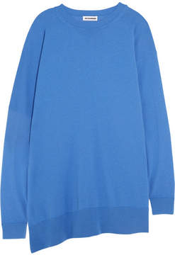Jil Sander Oversized Fleece Wool And Cashmere-blend Sweater - Blue