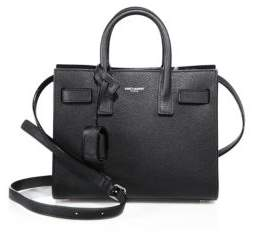 Saint Laurent Nano Sac De Jour Leather Tote - BLACK - STYLE