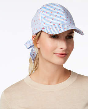 INC International Concepts I.n.c. Striped Ditsy Floral Baseball Cap, Created for Macy's