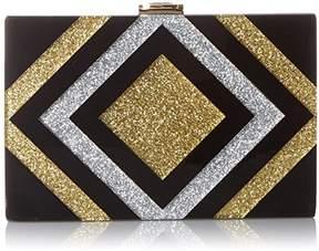 Milly Metallic Diamond Box Clutch