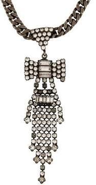 Dannijo Crystal Bow Fringe Necklace