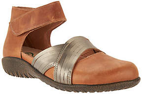 Naot Footwear Leather Flats with Ankle Strap - Tenei