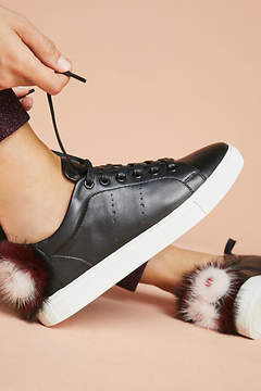 Lola Cruz Faux Fur Smile Sneakers