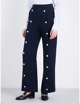 Claudie Pierlot Perline high-rise crepe trousers