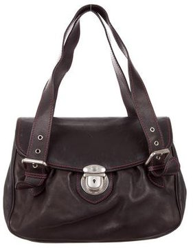 Marc Jacobs Leather Handle Bag - BLACK - STYLE